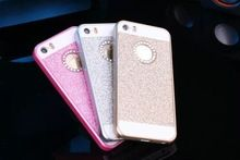 NEW 6 color Luxury Diamonds Don't fall shimmering powder case for iphone 5s and case for iphone 5 SE Free Shipping(China (Mainland))