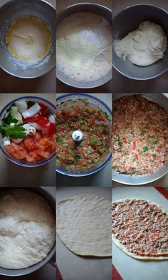 "The final time I noticed these lahmacuns it was in a program that I surkiffe ""Fourchette & sac à dos"" with Julie Andrieu, she was in Turkey and in her connoisseur journey (no however the dream job anyway . Lebanese Recipes, Turkish Recipes, Comida Armenia, Plats Ramadan, Tandoori Masala, Arabian Food, Pizza Bites, Pizza Pizza, Cooking Pumpkin"