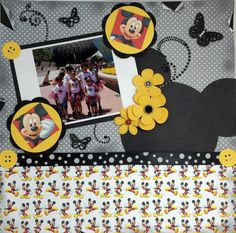 Got to love the Mickey heads in the center of the flowers! - Scrapbook.com