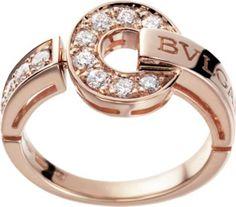 BVLGARI BVLGARI-BVLGARI 18kt pink-gold and diamond ring