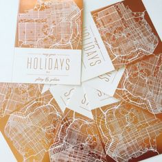 Send your loved ones a less traditional holiday greeting card this year with a custom foil-pressed map from Minted.  Shop all Holiday cards during our Black Friday event to save up to 20% off orders with code BF2015. Offer ends 11/27.