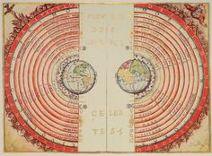 A century view of the universe with Earth at its center. This illustration of the geocentric solar system was created by Portuguese cosmographer and cartographer Bartolomeu Velho in