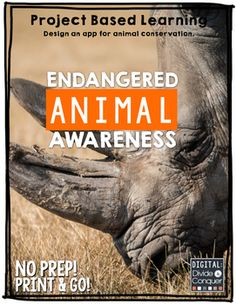 In this PBL activity, students will create an app about an animal that is endangered. They will choose the animals, do research, and develop/design an app. The app will showcase how they can synthesize and share information to others.