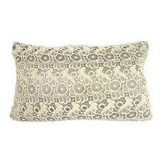 Grey Lace Cushion | Dunelm