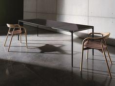 Tavolo allungabile in alluminio e vetro SLIM EXTENSIBLE by Sovet italia