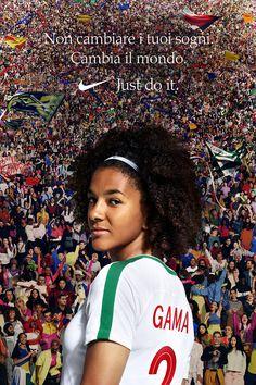 Un sogno ha il potere di cambiare ogni cosa. Condividi il tuo con il mondo. African House, Need Quotes, Disney Time, Hate Men, Football Girls, Who Runs The World, Women's World Cup, Someone Like You, Girls Be Like