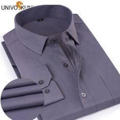 UNIVOS KUNI Men's Business Slim Fit Dress Shirt