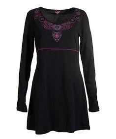 Loving this Black Empire Waist Dress on #zulily! #zulilyfinds