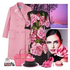 """""""pink coat"""" by bodangela ❤ liked on Polyvore featuring Dolce&Gabbana, Jimmy Choo, Mulberry, NARS Cosmetics and Bernstock Speirs"""