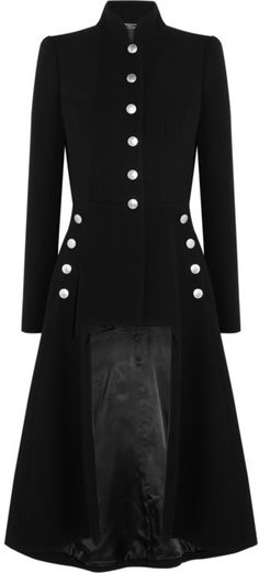 Alexander McQueen Cutout wool coat on shopstyle.com