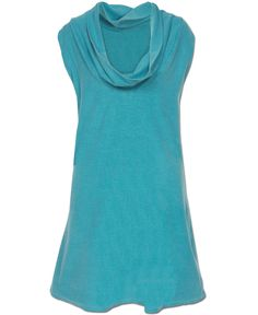 Teal Organic Cotton Tunic: Soul Flower Clothing