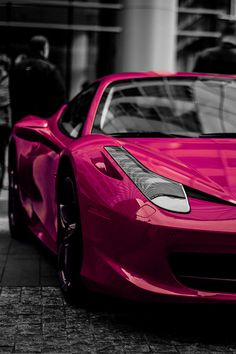 Pink Ferrari 458. Thoughts? Hot or Not? You decide... #TinderForCars