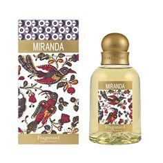 Fragonard Miranda hat die Milde eines Passatwindes, der die duftende Vanille und die milde Kokosnuss mit Bernstein und einem Echo von strahlenden Blumen aus den entfernten Inseln mitnimmt...