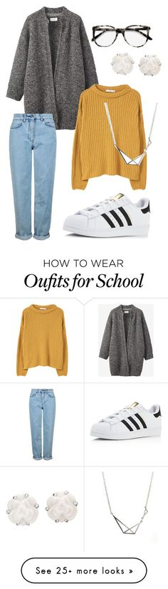 """""""back to school"""" by charlottkfm on Polyvore featuring Toast, Topshop, Ace, adidas, MANGO and Chanel"""