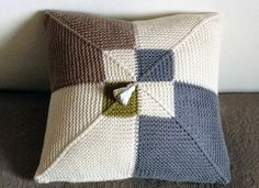 Knitted Cushion / Pillow Cover Handmade in by NerileKnits on Etsy