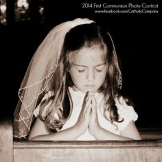 One of the entries to our 2014 First Holy Communion Photo Contest via our Facebook page. Beautiful!