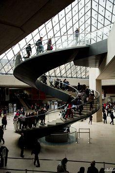 Inside the Louvre, Paris