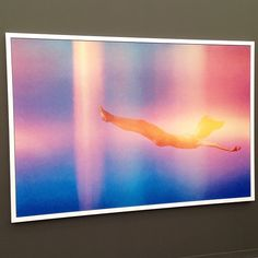 """Heavenly color spectrums in """"Falling (light leak)"""" by #ryanmcginley #frieze #friezeartfair"""