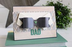 Dapper Dad card by Kimberly Crawford using the 1-2-3 Punch Board by We R Memory Keepers