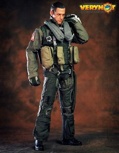 VERYHOT VH 1049 1//6 Scale US Army VF-101 Grim Reapers Pilot Figure Toy