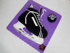 Hockey Skate Cake Love it!