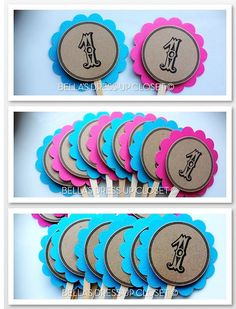 12 Custom or Personalized Cupcake Toppers by BellasDressUpCloset, $9.95
