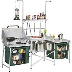 Ozark Trail Deluxe Camp Grill and Sink Table $49 was $79 | Camping ...