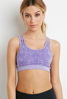 Low Impact - Jacquard Sports Bra - Activewear - 2000096157 - Forever 21 EU