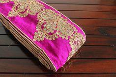 1 Yard Wide Magenta Silk Fabric Sequins by ArtsyCraftsyShoppe