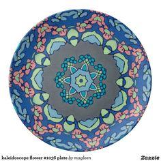 kaleidoscope flower #1036 plate