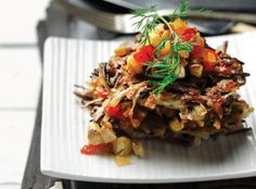 Wild Rice and Potato Pancakes with Corn Salsa Recipe.