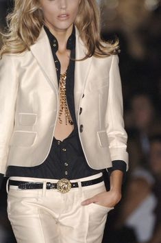 Looks great!  (But if you have a business meeting, you might want to go for a few more buttons on the blouse...)