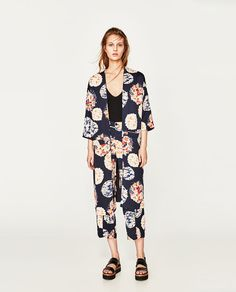 ZARA - WOMAN - CROPPED TROUSERS WITH PRINT