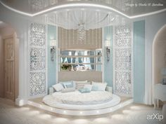 Симфония нежности: интерьер, квартира, дом, спальня, неоклассика, 20 - 30 м2 #interiordesign #apartment #house #bedroom #dormitory #bedchamber #dorm #roost #neoclassicism #20_30m2 arXip.com