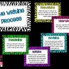 Zebra Themed Writing Process Posters:    Prewriting  Drafting  Revising  Editing  Publishing    These will be a cute addition to any classroom!!!    **These ...