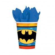 Batman Cups New Design 266ml Paper Pkt8 $8.95  A581386
