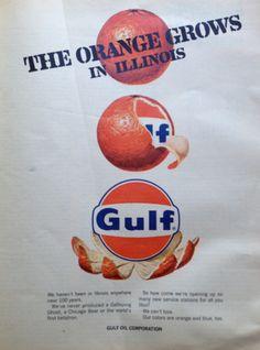 Gulf Oil advertisement; University of Illinois; 1967