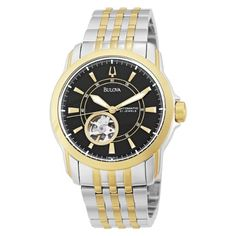 31b2009551e Men s Wrist Watches - Bulova Mens 98A101 Automatic SelfWinding Mechanical  Exhibition Caseback Bracelet Watch   Want