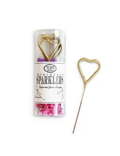 Gold Heart Mini Sparklers