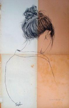 Saatchi Online Artist Loui Jover; Drawing, no surprises (a study) #art