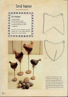 https://flic.kr/p/46PeAt | Molde da Galinha Tecido | A Galinha pode ser usada também no palito..... Lindas