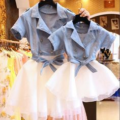 Cheap family clothes, Buy Quality matching mom directly from China family matching Suppliers: New Summer Style Family Matching Outfits Mother and Daughter Denim Dresses Matching Mom Daughter Family Clothes Mommy Daughter Matching Dresses, Matching Family Outfits, Matching Clothes, Matching Set, Mother Daughter Fashion, Mom Daughter, Mother And Daughter Clothes, Outfit 2016, Girls Denim Jacket