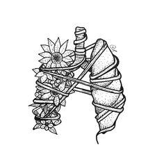 Pencil Art Drawings, Art Drawings Sketches, Ink Illustrations, Illustration Sketches, Cool Drawings, Geniale Tattoos, Anatomy Art, Art Sketchbook, Art Inspo