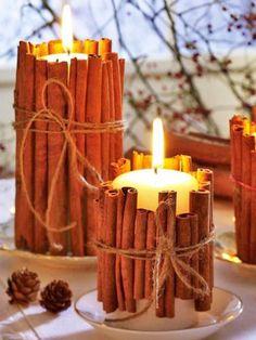 Cinnamon Christmas Candles DIY