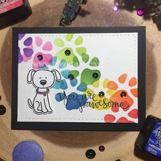 Haystack Cards: You Are Pawsome | Ink Blending; Simon Says Stamps