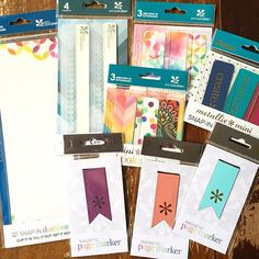 """The new dashboard, 6"""" coil clips, mini snap in bookmarks and magnetic page markers!  Seriously sooo in love with the watercolor direction EC has headed in!! @erincondren I love you"""
