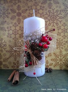 8 Minutes Simple Christmas Candles Decoration – My CMS Christmas Candle Decorations, Christmas Candles, Simple Christmas, Christmas Time, Christmas Wreaths, Advent Wreaths, Deco Table Noel, Illustration Noel, Decoration Table