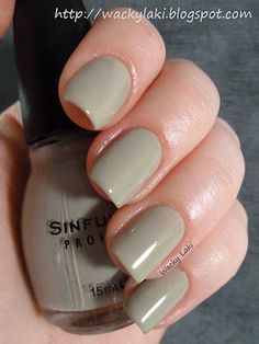 Sinful Colors - Seaweed. I really like this color too-strangely...