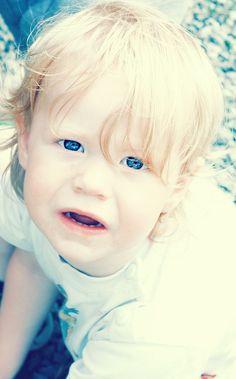The blue eyes..