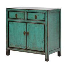 A very well proportioned cupboard in a lovely shade of turquoise.The cabinet has…